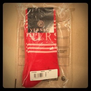 Versace ribbed logo socks
